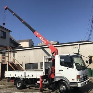 【オススメ車両】H13 三菱 ファイター 2.85t  4段クレ...