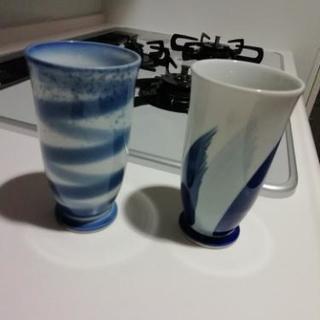 【非売品】モルツ陶器 湯呑み 2つ西山窯 フリーカップ