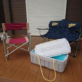 [値下げしました]キャンプセット チェアとクーラーボックス