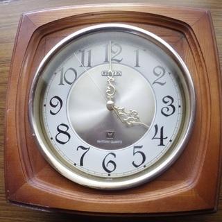 木製時計 動作します。