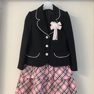 ワールド女児入学式ジャケット+スカート2点セット