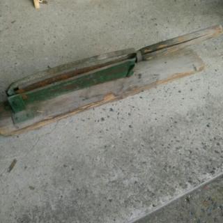 昭和レトロ 木製 押し切り 藁切 農具 工具 古道具 古民具
