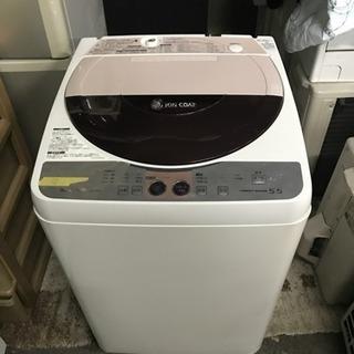 ★☆ SHARP 洗濯機 ES-FG55J-C 2009年製 中古
