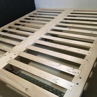セミシングルベッドフレーム&マットレス(195cm×85cm)2セット - 家具