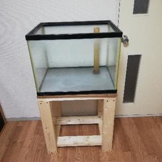 【配達可能】6045水槽 オーバーフロー加工 水槽台付