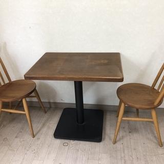 中古 テーブル・イスセット 2人掛け用