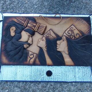 ☆アボリジニだったと思います。1枚板の木彫りのオブジェです。