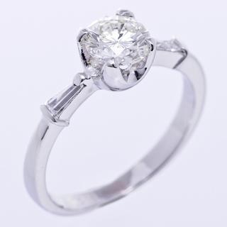 ジュエリーマキ 指輪 ダイヤ リング プラチナ 立て爪 4本  ...