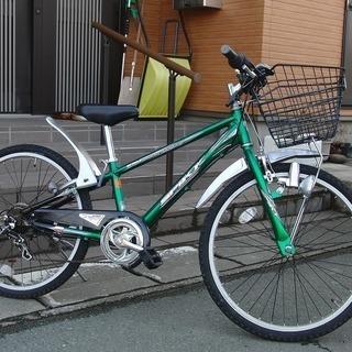 中古自転車 ミヤタ 24インチ マウンテン6段変速  ライト 馬...