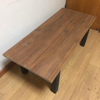 新品 無垢材を使ったダイニングローテーブル 近場お届け可能です。