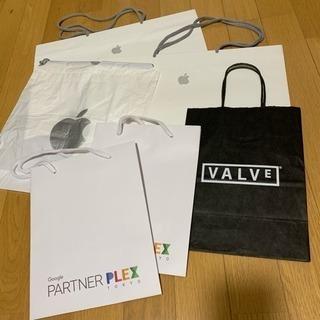 美品‼️ショップ袋 Apple Google Valve 計6点...