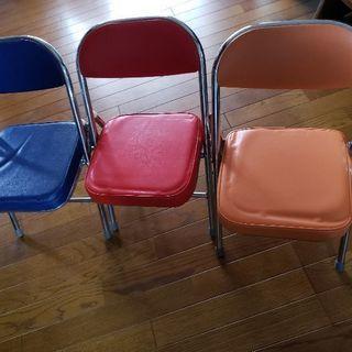 三点セット 子供用パイプ椅子