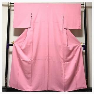 美品 未使用 極上 作家物 逸品 膨れ地紋 正絹 ピンク 色無地...