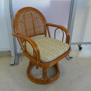 籐 イス 回転椅子