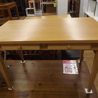 ダイニングテーブル 4人掛け 引出し付き 木製 幅:111cm 札...