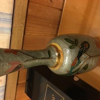 インド マハラジャ 真鍮 七宝 花瓶の画像