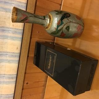 インド マハラジャ 真鍮 七宝 花瓶 - 射水市