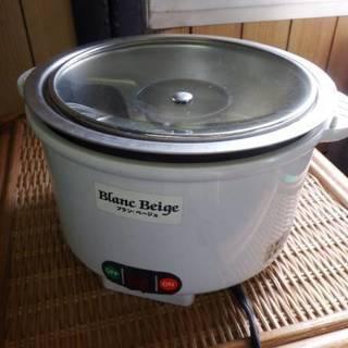 電気おかゆ鍋 ブランベージュ