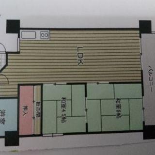 高宮駅から4分の2LDK短期賃貸リビング18畳広々