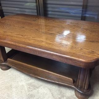 総無垢のセンターテーブル 応接テーブル