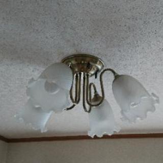 【値下げ】シャンデリア 天井照明 LED電球付 おまけ付