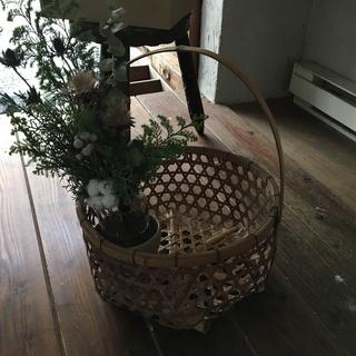 竹カゴ 骨董 アンティーク