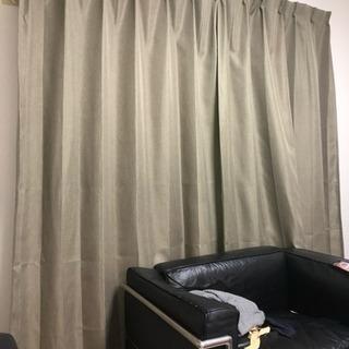 二級遮光カーテン、ミラーレスレースカーテンのセット