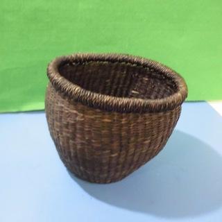 籐風バスケット 小さくてカワイイ手作り風編みカゴ あなたのお部屋に...