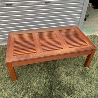 木製ローテーブル ブラウン