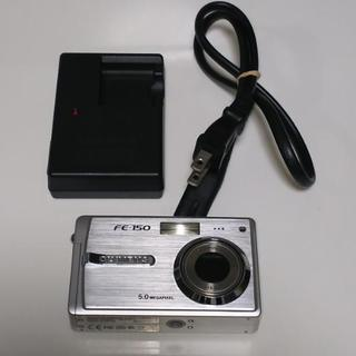 OLYMPUS FE-150 シルバー  500万画素デジカメ