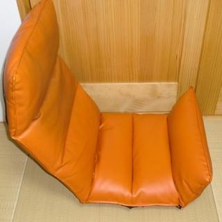 低反発座椅子「RI・RA・KU」リラク/伸ばせば寝れます■4箇所角...
