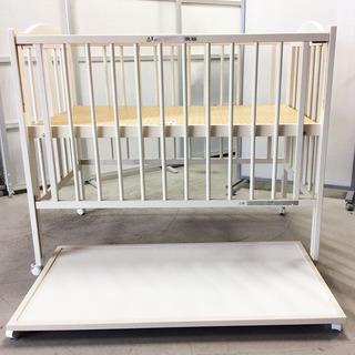 日本製 スリーピー ベビーベッド 折り畳み式 ホワイト マッド付き...