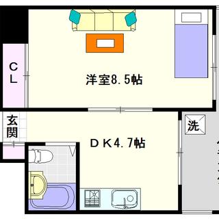 【カーサいずみ】1号タイプ!1DKタイプ!最上階の角部屋☆