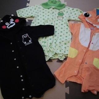 男の子ベビー服(可愛いキャラものロンパース、50~80センチ)3...
