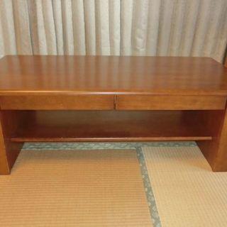 センターテーブル リビングテーブル 引き出し 棚 ブックスタンド...