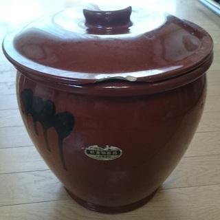 ■甕 蓋付 陶器
