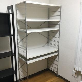 白い可動棚、無料