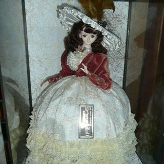 昭和レトロ フランス人形 ガラスケース入り