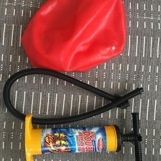 バランスボールと空気入れ用のポンプ、差し上げます