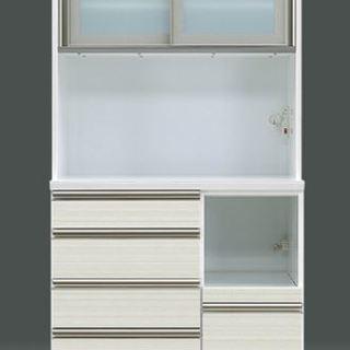【大幅値下げ中!】食器棚キッチンボード 色:白 (W1105xD4...