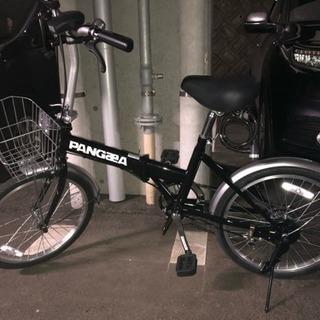20インチ折りたたみ自転車 Pangaea ブラック美品 輪行バッ...
