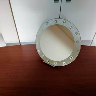 壁掛け式丸鏡(直径約30㎝)