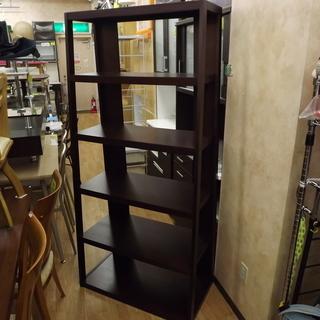 ラック シェルフラック 飾り棚 木製 ダークブラウン 幅:85cm...