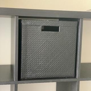収納ボックス黒色☆IKEAのシェルフにぴったり☆状態良好