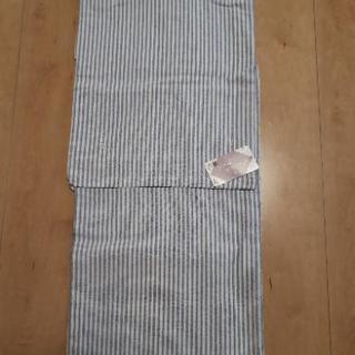 単衣着物 LLサイズ 新品 ブルー系縞柄