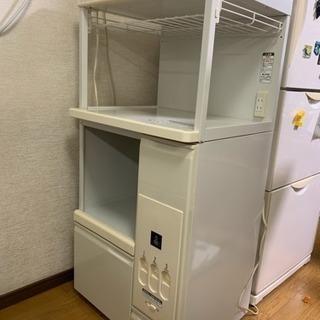 レンジ台 米びつ付