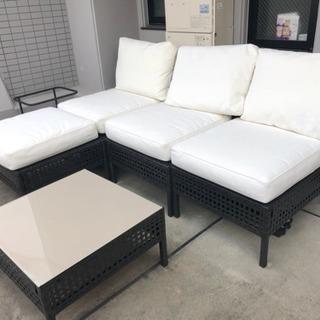 3月末廃棄 テラス用 ソファ&テーブル
