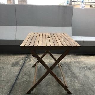 3月末廃棄 アウトドア用 ウッドテーブル