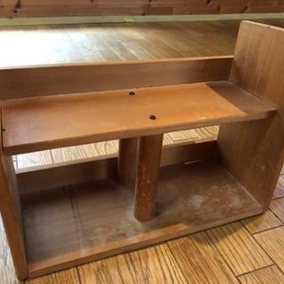 木製整理棚  本立て