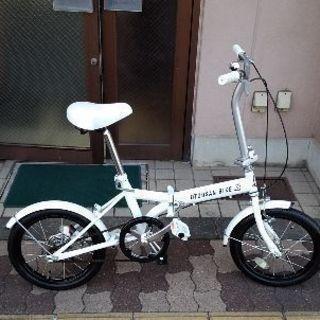 OTOUSAN BIKE 16吋折り畳み自転車 シングル/ホワイト